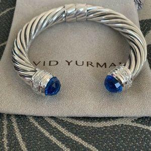 yurman 10mm cable cuff topaz diamond cracelet cuff